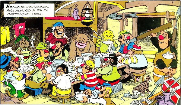 Mampato y Los Balleneros almuerzo