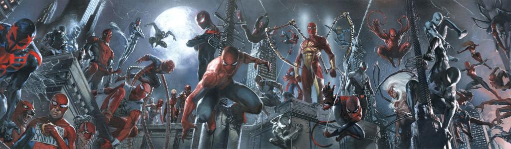 Todos los Spider-Men involucrados en Spider-Verse, por el espectacular Gabriele Dell'Otto