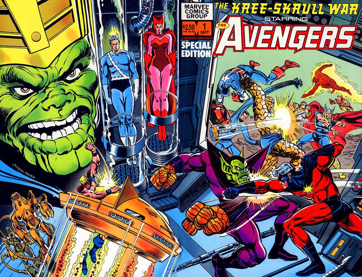 The Kree/Skrull War - Avengers Special Edition #1 de 1983 (recopila Avengers #93-94 Portada de Walter Simonson y Tom Palmer