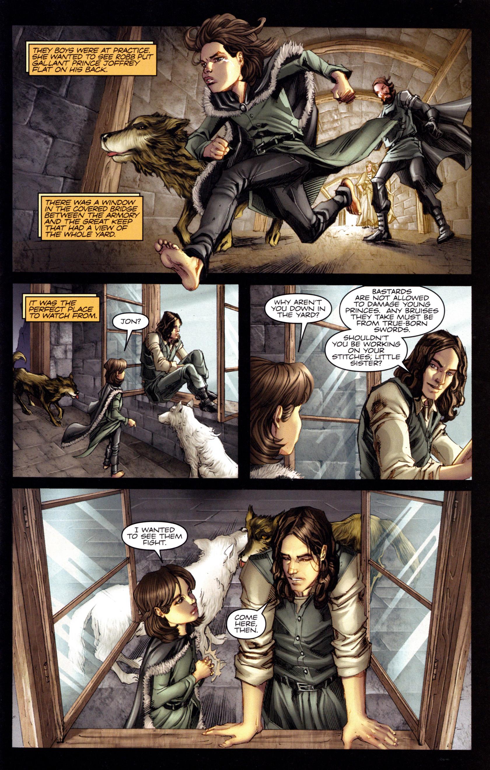 Jon Snow se muestra muy cercano a su hermana, Arya