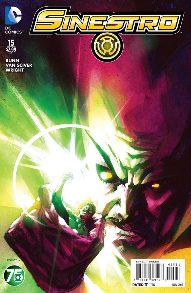 Portada Variante Aniversario Nº75 de Green Lantern: Ryan Sook