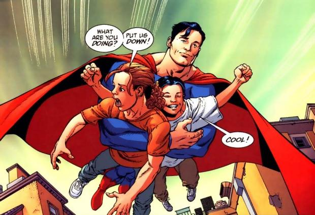 Superman salvando a los Connor