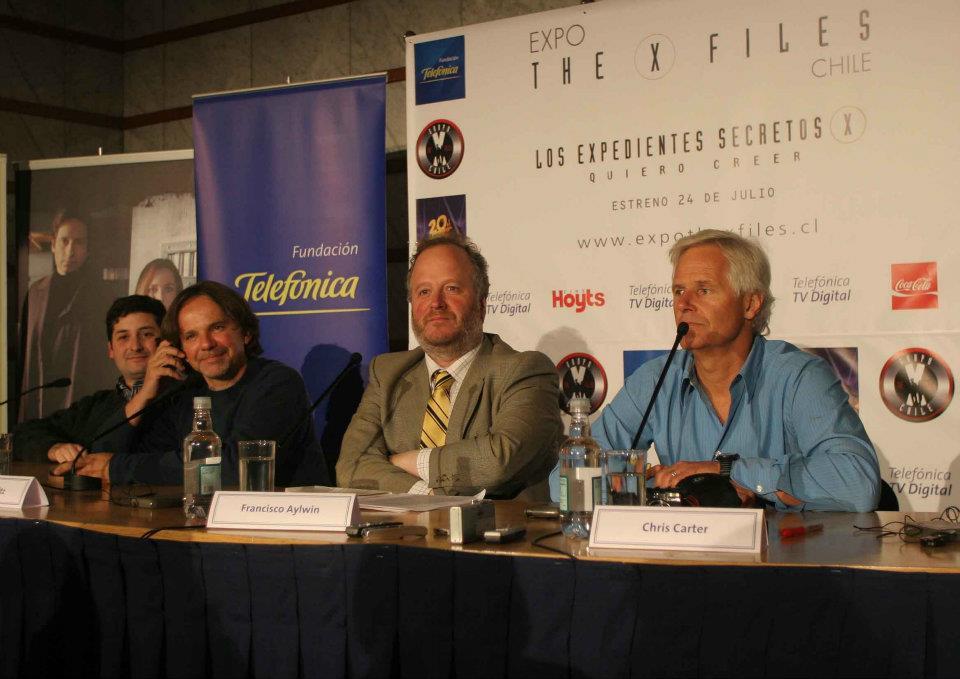 Chris Carter y Frank Spotnitz en Chile, invitados por el Grupo The X-Files Chile