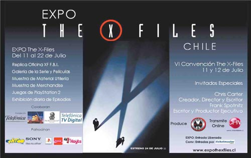 Flyer de la Expo The X-Files Chile 2008