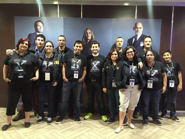 El Grupo The X-Files Chile, en pleno