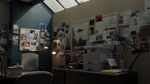 La oficina de Mulder en The X-Files: Temporada 11