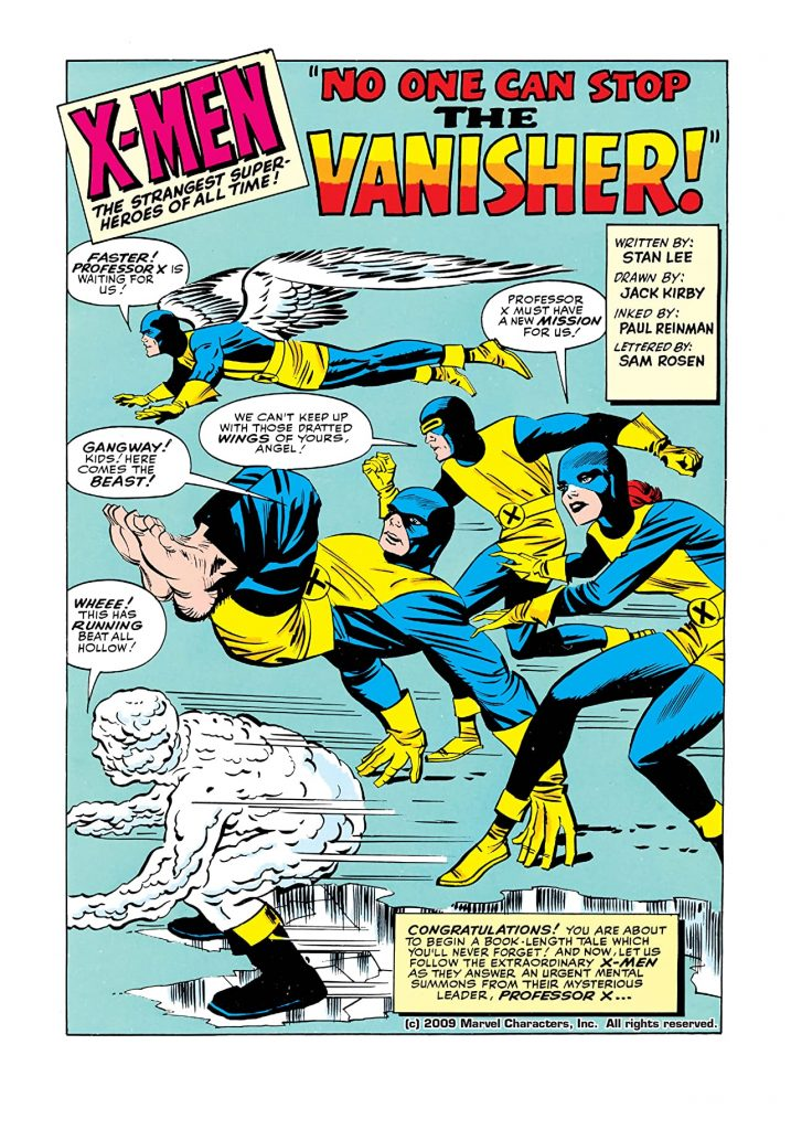 The X-Men #002 de Stan Lee y Jack Kirby, arte interior